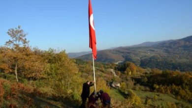 Photo of Köyün En Tepesine Türk Bayrağı